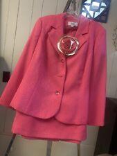 Gorgeous Hot Pink LeSuit WOMAN Skirt Suit - Size 18W