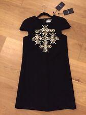Brand New Yves Saint Laurent black dress size 8, 100 % Wool