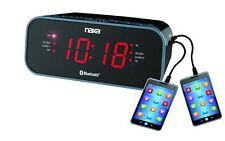 Naxa Nrc-182 Bluetooth[r] Dual Alarm Clock Radio With 2 Usb Charge Ports