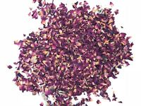 Natural Biodegradable Wedding Confetti Red Burgundy Rose Petals, Dried Vintage