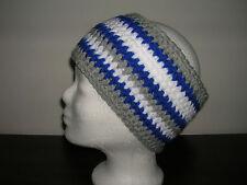 Cuffie e occhiali protettivi, banda frontale, My Boshi-style, merletto, Ku 54-56 cm, Grigio/Blu