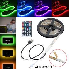 USB LED Strip Light RGB 5050 TV Back Lamp 2x40cm+2x60cm Colour Changing +Remote