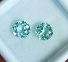 World Class! 5mm. Pair of Round Neon Blue PARAIBA TOURMALINE Excellent Cut!!