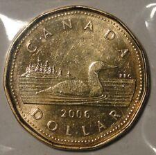 Canada 2006 $1 dollar regular loonie 'no logo' coin nice circulated