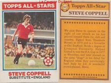 147 STEVE COPPELL # ENGLAND ALL STARS CARD PREMIER LEAGUE TOPPS 1978