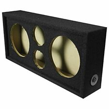 "Q Power Car Audio Subwoofer Enclosure Box Chuchero For 8"" Mids and 3"" Tweeters"