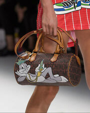 MOSCHINO COUTURE Jeremy Scott Bugs Bunny looney tunes round barrel bag purse NEW