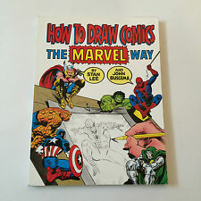 How to Draw Comics the Marvel Way by John Buscema and Stan Lee 1984 Soft  Cover