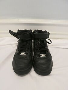 NIKE high top black air force one with strap size 7.5
