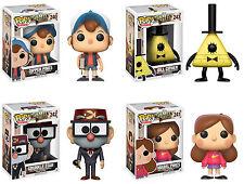 Funko POP! Disney ~ GRAVITY FALLS 4-FIGURE SET ~ Dipper Pines, Bill Cipher++