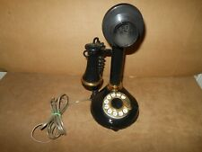 Vtg 1973 Rotary Candlestick Telephone American Telecommunications Parts Repair
