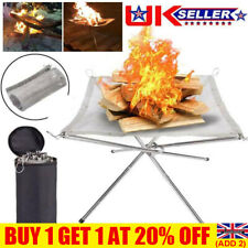 More details for folding portable fire pit mesh fire pit bonfire stand outdoor camping patio uk