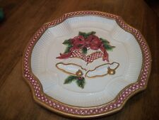 "Fitz & Floyd ""Holiday Bells"" Decorative Plate - 9"""