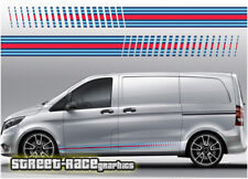Mercedes Vito Martini 002 side racing stripes vinyl graphics stickers decals