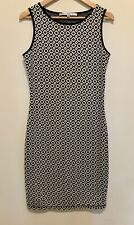 Max Studios Women's Geometric Sleeveless Tank Dress size Large L Black & White