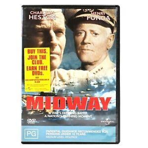 Midway Charlton Heston WW2 War Drama Epic DVD R4 Good Condition