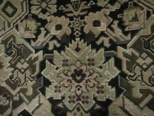 Cotton Upholstery Fabric Tapestry Southwestern Geometric Black Caramel Brown