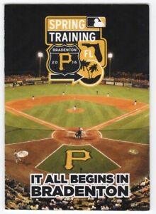 2016 Pittsburgh Pirates Spring Training Pocket Schedule