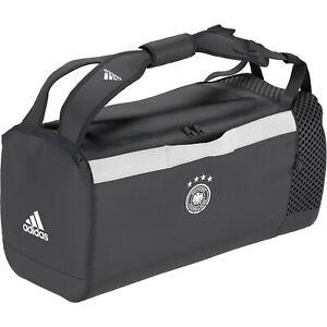 Adidas Unisex Germany Duffel Bag Holdall - Grey Football Soccer