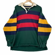 Vintage Croft & Barrow Colorblock Longsleeve Polo Rugby Size Mens L 90s Striped