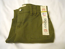 l.e.i. Girls Skinny Pants Sz 14 Reg Chelsea Lowrise Adjustable Waistband Green