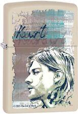 Zippo Kurt Cobain Logo Music American Rock Cream Matte Windproof Lighter 29051