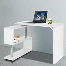 360° S-Shaped Corner Table Compact Laptop HomeOffice Study Computer Corner Desk