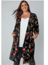 YOURS CLOTHING Multi Floral Panelled Duster JacketSIZE: 22/24