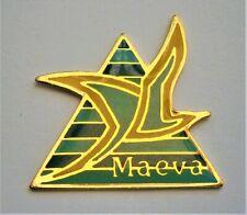 H556:) Enamel Maeva Tourism sea bird badge tie lapel pin
