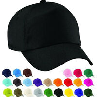 Baseball Cap Adjustable Classic New Cotton Summer Sun 5 Panel Mens Womens Hat