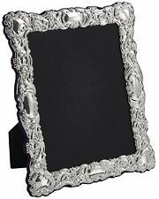 "CARRS - Sterling Silver Photo Frame Victorian design Velvet Back - 8"" x 6"""