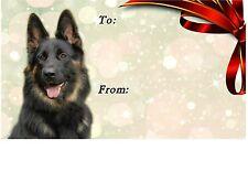 German Shepherd Dog Self Adhesive Gift Labels by Starprint