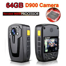 64GB D900 Security Police Body Camera IR Night Vision Camcorders 1080P Digital