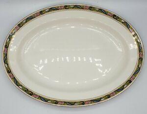 "Johnson Bros 12.5"" Serving Platter / Tray Roses Floral Edge Vintage"
