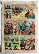 The Lone Ranger & Scarlet O'Neil ~ 1949 Newspaper Full Page Comic in Color