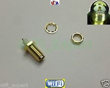 RP-SMA female PLUG center nut bulkhead handle deck clip solder cup RF connector