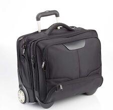 """XXL Notebooktasche Laptop Tasche Pilotenkoffer mit Trolley Rollen 17"""" gepolstert"""