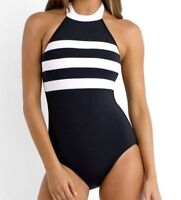 Seafolly Blockparty DD Maillot One Piece Navy Swimsuit 5013 Size 12 US / 16 AUS