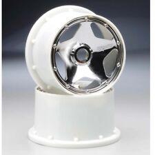 NEW HPI Baja 5B / Baja 5B SS Super Star Wheel Shiny Chrome 120x75mm (2) 3229