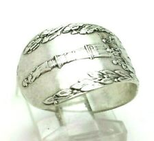 Antique Spoon Ring Wrap Sterling Silver 925 Ring 4g Sz.8.75 LOL934