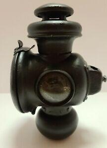 Vintage DIETZ Lantern Oil Lamp Automobile Auto Buggy Carriage Light w/ Red Lens