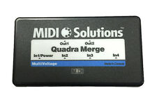 Midi Solutions Quadra Merger Merge four MIDI inputs into two MIDI output