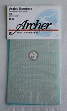 Archer 1/35 Arabic Vehicle Numbers (4 different sizes) (White) [Decal] AR35196W
