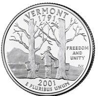 2001-S State Quarter Clad Proof Vermont VT