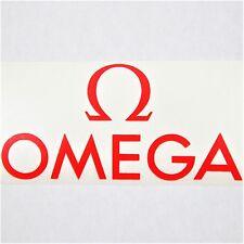 Omega Vinyl Decal Die Cut 2.5x5in Red Watch Logo Window Sticker