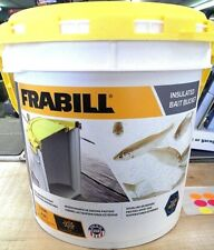 Frabill insulated bait bucket 1.3 gallon saltwater/freshwater foam liner 4822