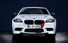 BMW OEM Performance F10 M5 Front & Rear Tri Color M Stripe Decal Set New