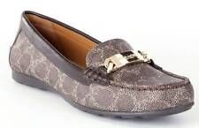COACH Designer Signature Logo Brown Womens Loafers Flats Casual Shoes  7 1/2
