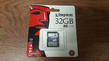 Genuine Original Kingston 32GB SD SDHC Class 4 Memory Card Camera SD4/32GB