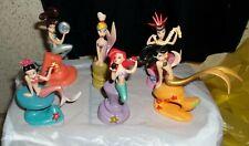 Disney Little Mermaid Ariel & Her Sisters PVC Figures VGUC